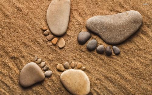 piedi su spiaggia