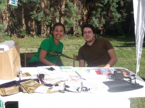 Francesca e Gian Marco in attesa dei partecipanti!