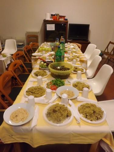 Cena per la festa Id al-adha 2015 a casa della comunità bengalese