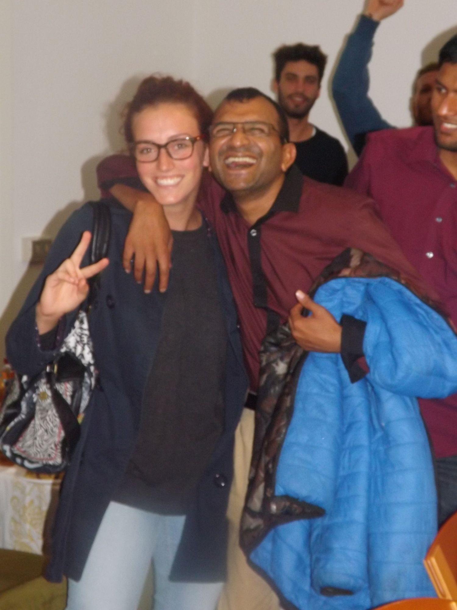 Maria e Allaud alla cena della Id al-adha presso la comunità bengalese